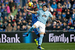 Getafe CF's Djene Dakoman and Celta de Vigo's Maxi Gomez  during La Liga match. February 09,2019. (ALTERPHOTOS/Alconada)