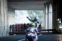 peloton in an open tunnel along the Mediterranean <br /> <br /> 112th Milano-Sanremo 2021 (1.UWT)<br /> 1 day race from Milan to Sanremo (299km)<br /> <br /> ©kramon