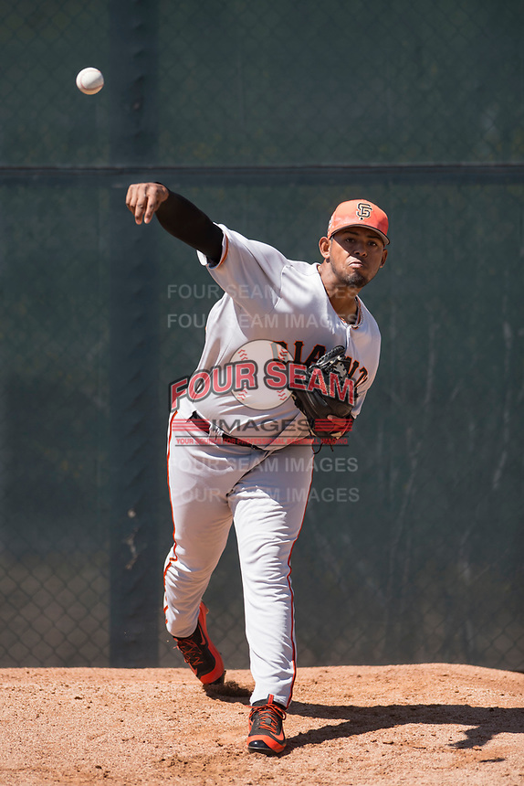 San Francisco Giants relief pitcher Norwith Gudino (53) during a Minor League Spring Training game against the Arizona Diamondbacks at Salt River Fields at Talking Stick on March 28, 2018 in Scottsdale, Arizona. (Zachary Lucy/Four Seam Images)