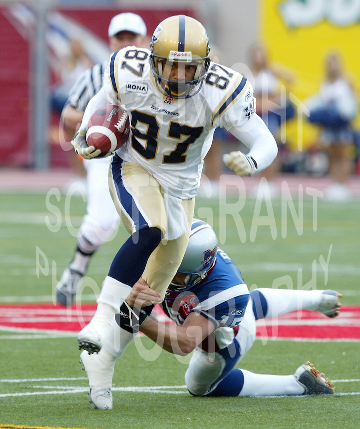 Albert Johnson Winnipeg Blue Bombers. Photo Scott Grant