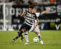 Orlando, FL - Saturday Jan. 21, 2017: Corinthians midfielder Marquinhos Gabriel (31) is fouled by São Paulo midfielder Buffarini (18) during the second half of the Florida Cup Championship match between São Paulo and Corinthians at Bright House Networks Stadium. The game ended 0-0 in regulation with São Paulo defeating Corinthians 4-3 on penalty kicks