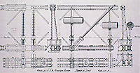 Sketch of Brooklyn Bridge and details of truss.