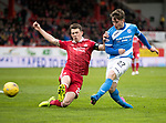 Aberdeen v St Johnstone…29.04.17     SPFL    Pittodrie<br />Craig Thomson shoots at goal<br />Picture by Graeme Hart.<br />Copyright Perthshire Picture Agency<br />Tel: 01738 623350  Mobile: 07990 594431