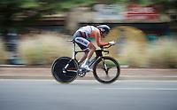 Tom Dumoulin (NLD/Giant-Alpecin) speeding along<br /> <br /> Elite Men TT<br /> UCI Road World Championships / Richmond 2015