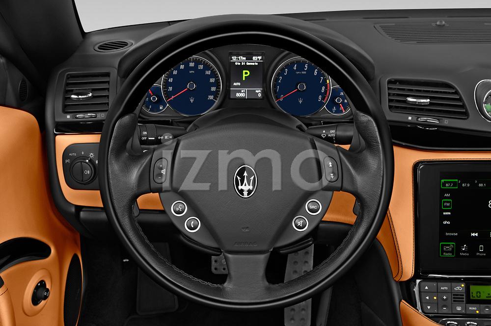 Car pictures of steering wheel view of a 2018 Maserati Gran-Turismo Sport 2 Door Convertible Steering Wheel