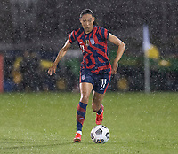 EAST HARTFORD, CT - JULY 1: Christen Press #11 of the USWNT dribbles during a game between Mexico and USWNT at Rentschler Field on July 1, 2021 in East Hartford, Connecticut.