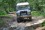 Series 3 Land Rover competing in the ALRC National 2008 RTV Trial. The Association of Land Rover Clubs (ALRC) National Rallye is the biggest annual motor sport oriented Land Rover event and was hosted 2008 by the Midland Rover Owners Club at Eastnor Castle in Herefordshire, UK, 22 - 27 May 2008. --- No releases available. Automotive trademarks are the property of the trademark holder, authorization may be needed for some uses.