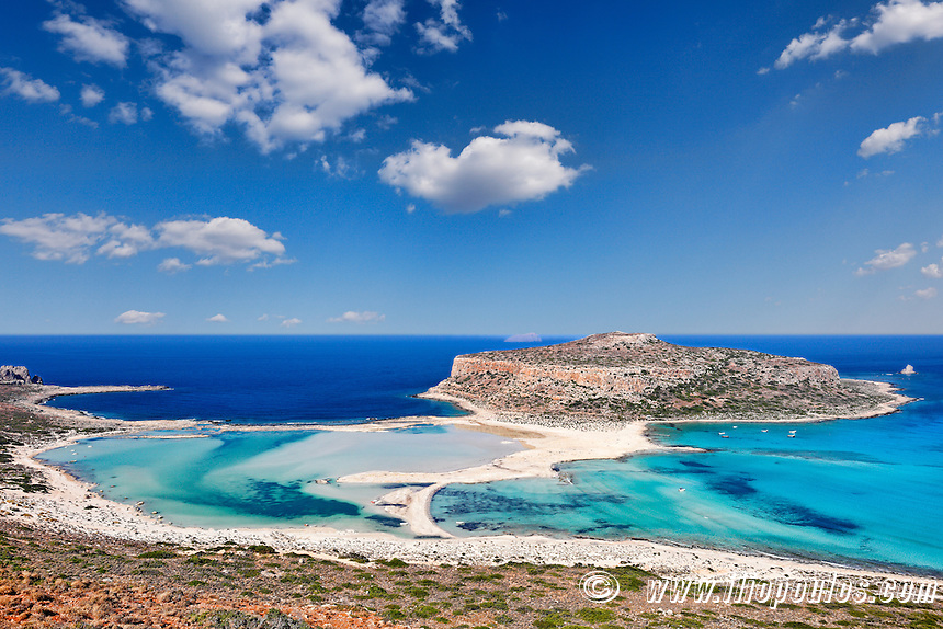 The unbelievable beauty of Balos Lagoon with Cap Tigani in Crete, Greece