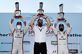 Winners #7 Acura Team Penske Acura DPi, DPi: Helio Castroneves, Ricky Taylor with team President Tim Cindric