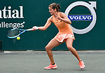 April  7, 2018:  Julia Goerges (GER) battles against Anastasia Sevastova (LAT) before the rains came at the Volvo Car Open being played at Family Circle Tennis Center in Charleston, South Carolina.  ©Leslie Billman/Tennisclix/CSM