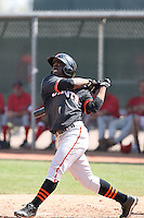 Jose Medina, San Francisco Giants 2010 minor league spring training..Photo by:  Bill Mitchell/Four Seam Images.