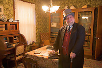 Actor playing the part of Dr. Emlen Physick, Library in the Emlen Physick Estate, Cape May, New Jersey