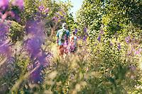 Hikers along the Hyssnaleden, West Sweden, Sweden - Västsverige, Sverige