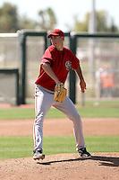 Patrick Corbin #14 of the Arizona Diamondbacks pitches in a minor league spring training intrasquad game  at the Diamondbacks minor league complex on April 1, 2011  in Scottsdale, Arizona. .Photo by:  Bill Mitchell/Four Seam Images.