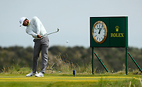 150719 | The 148th Open - Monday Practice<br /> <br /> Tiger Woods of USA tees off on the 17th during practice for the 148th Open Championship at Royal Portrush Golf Club, County Antrim, Northern Ireland. Photo by John Dickson - DICKSONDIGITAL
