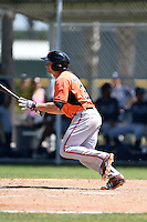 Baltimore Orioles Tucker Nathans (32) during a minor league spring training game against the Tampa Bay Rays on April 3, 2015 at the Buck O'Neil Complex in Sarasota, Florida.  (Mike Janes/Four Seam Images)