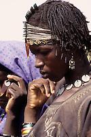 Bankilare, southwestern Niger - Bella Woman, beads, ear ring, hairdo