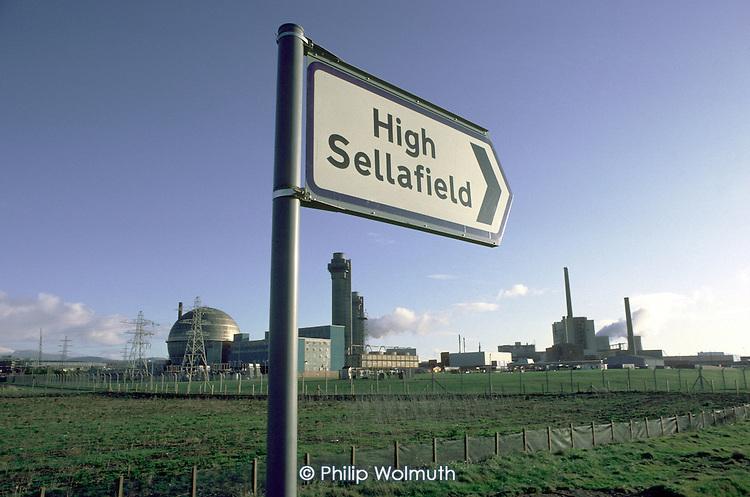 Sellafield nuclear reprocessing plant in Cumbria.