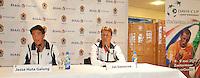 26-04-10, Zoetermeer, SilverDome, Tennis, Persconferentie Davis Cup, Jesse Huta Galung aan het woord naast hem Captain Jan Siemerink