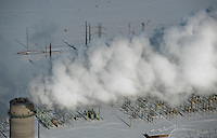 Comanche electric power plant in winter