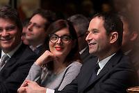 Valerie Donzelli, Benoit Hamon, investiture de BenoÓt Hamon a la presidentielle du Parti Socialiste (PS) a la mutualitÈ de Paris, le dimanche 5 fÈvrier 2017