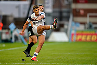 21st August 2020; Kingsholm Stadium, Gloucester, Gloucestershire, England; English Premiership Rugby, Gloucester versus Bristol Bears; Callum Sheedy of Bristol misses a conversion attempt
