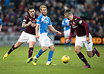 Hearts v St Johnstone…05.11.16  Tynecastle   SPFL<br />David Wotherspoon is fouled by Jamie Walker<br />Picture by Graeme Hart.<br />Copyright Perthshire Picture Agency<br />Tel: 01738 623350  Mobile: 07990 594431