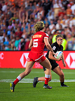 New Zealand's Michaela Blyde in action during the women's cup final against Canada on day two of the 2020 HSBC World Sevens Series Hamilton at FMG Stadium in Hamilton, New Zealand on Sunday, 26 January 2020. Photo: Dave Lintott / lintottphoto.co.nz