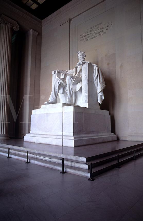 Lincoln Memorial Monument statue in Washington DC, USA