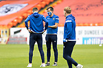 Dundee United v St Johnstone…..01.08.20   Tannadice  SPFL<br />Callum Booth and Wallace Duffy on the pitch at Tannadice ahead of kick off<br />Picture by Graeme Hart.<br />Copyright Perthshire Picture Agency<br />Tel: 01738 623350  Mobile: 07990 594431