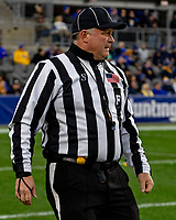 ACC field judge Mike Cullin. The Boston College Eagles defeated the Pitt Panthers 26-19 in the football game played at Heinz Field, Pittsburgh Pennsylvania on November 30, 2019.