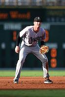 Jupiter Hammerheads third baseman Colin Moran (18) during a game against the Bradenton Marauders on June 25, 2014 at McKechnie Field in Bradenton, Florida.  Bradenton defeated Jupiter 11-0.  (Mike Janes/Four Seam Images)