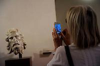 Testa del Battista, scultura marmorea di Tino di Camaino.Museo dell'Opera del Duomo..Firenze.Florence.