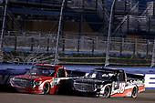 #18: Harrison Burton, Kyle Busch Motorsports, Toyota Tundra Safelite AutoGlass #7: Tanner Gray, DGR-Crosley, Toyota Tundra Turtle Beach Construction