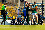Kerry Manager Peter Keane and David Clifford, Kerry, during the Munster Football Championship game between Kerry and Clare at Fitzgerald Stadium, Killarney on Saturday.