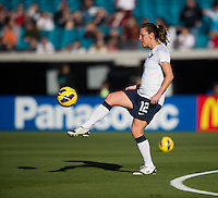 Lauren Cheney.  The USWNT defeated Scotland, 4-1, during a friendly at EverBank Field in Jacksonville, Florida.