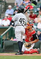 2007:  Jamal Strong of the Scranton Wilkes-Barre Yankees, Class-AAA affiliate of the New York Yankees, during the International League baseball season.  Photo by Mike Janes/Four Seam Images
