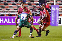 26th September 2020; Toulon, France; European Challenge Cup Rugby, semi-final; RC Toulon versus Leicester Tigers;  Beka Gigahvili (RC Toulon) runs into contact with Tom Youngs