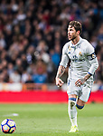 Sergio Ramos of Real Madrid in action during their La Liga match between Real Madrid and Real Betis at the Santiago Bernabeu Stadium on 12 March 2017 in Madrid, Spain. Photo by Diego Gonzalez Souto / Power Sport Images