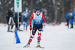 Prince George, B.-C., 16 February/2019  - Brittany Hudak competes in the women's standing middle distance biathlon on day 01 of the 2019 World Para Nordic skiing Championships in Prince George, B.C. Photo Bob Frid/Canadian Paralympic Committee.