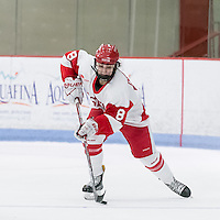 Boston, Massachusetts - January 15, 2017: NCAA Division I. After overtime, Boston University (white) tied University of Vermont (green), 1-1, at Walter Brown Arena.