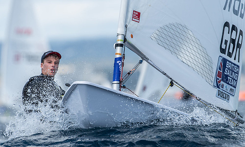 Welsh sailor Michael Beckett leads the Vilamoura International Regatta after eight races sailed