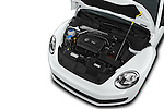Car Stock 2016 Volkswagen Beetle 1.8T-S-Auto-PZEV 3 Door Hatchback Engine  high angle detail view