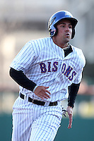 Buffalo Bisons third baseman Zach Lutz #3 during a game against the Syracuse Chiefs at Dunn Tire Park on April 7, 2011 in Buffalo, New York.  Syracuse defeated Buffalo 8-5.  Photo By Mike Janes/Four Seam Images