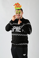 Pictured: Nicky Smith of the Ospreys<br /> Swansea City FC and Ospreys RFC Christmas photo shoot at the Fairwood Trainining Ground, near Swansea, Wales, UK. 17 October 2017