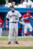 July 28, 2009:  Greg Folgia of the Mahoning Valley Scrappers reacts to a strike call during a game at Dwyer Stadium in Batavia, NY.  Mahoning Valley is the NY-Penn League Short-Season Class-A affiliate of the Cleveland Indians.  Photo By Mike Janes/Four Seam Images