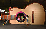 Giant guitar as part of new installation at Winchester Science Museum and Planetarium
