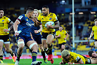 Ngani Laumape in action during the Super Rugby Aotearoa match between the Hurricanes and Highlanders at Sky Stadium in Wellington, New Zealand on Sunday, 12 July 2020. Photo: Dave Lintott / lintottphoto.co.nz