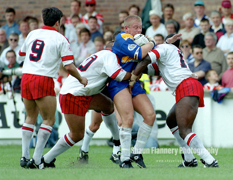Pix: Shaun Flannery/shaunflanneryphotography.com<br /> <br /> COPYRIGHT PICTURE>>SHAUN FLANNERY>01302-570814>>07778315553>><br /> <br /> August 1994<br /> The Dons v St Helens<br /> The Dons first game in the 1994 First Division where they beat St Helens 29 - 20