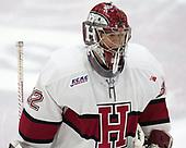 Cameron Gornet (Harvard - 32) - The visiting Colgate University Raiders shut out the Harvard University Crimson for a 2-0 win on Saturday, January 27, 2018, at Bright-Landry Hockey Center in Boston, Massachusetts.